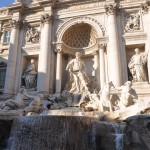 Throw your penny inside the Trevi fountain