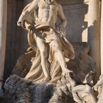 Neptune is the god of the seas represented in the Trevi fountain