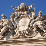 The pope organized the construction of the Trevi fountain