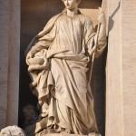 Trevi fountain in Rome is in Piazza di Trevi