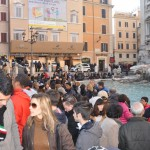 The Trevi fountain is one of the most famous tourist attractions in Rome