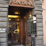 The exchange booth is next to Hotel Fontana near the Trevi fountain