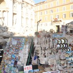 You can buy many souvenirs near the Trevi fountain