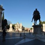 Capitoline Hill is less busy in the morning to visit