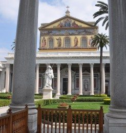 St. Paul Outside the Walls is one of Rome's four major basilicas