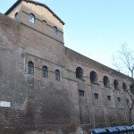 Roman walls can also be seen on the train arriving from the airport near the entrance of the Termini station