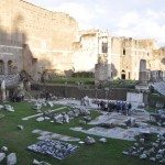 Forum of Augustus is located in front of the Colosseum and the Roman Forum