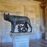 A room is dedicated to the wolf of Rome together with Romulus and Remus