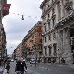 goes from Piazza della Repubblica heading towards Piazza Venezia