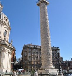 Trajans column is just a short walk from the Roman forum and the Coliseum