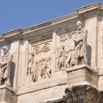 Even though the Arch of Constantine is visible from far away, you have to see it from real close up