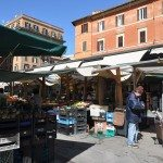 If you are here in the late morning you can walk south to Piazza San Cosimato