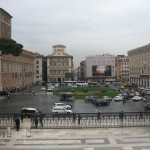 Walking up the first few stairs of Vittorio Emmanuel II Monument you have a better view of the Piazza