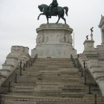Vittorio Emmanuel II Monument features majestic stairways