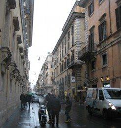 Via del Corso is a famous shopping street