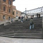 The Spanish Steps was built in honor of a diplomatic visit by the king of Spain.
