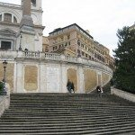 The construction of the spanish steps began in 1723 and was completed in 1725