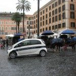 Police is often stationed at the bottum of the spanish steps as well