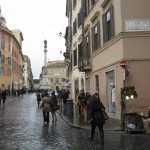 Piazza di Spagna is right at the base of the magnificent Spanish Step