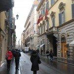 Via Condotti runs into Via del Corso but the shopping is much more exclusive