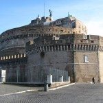 Castel Sant Angelo is situated perfectly near the Tiber River