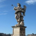 The angel statues on Sant'Angelo's Bridge was Bernini's last large projects