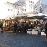 Campo de Fiori is a bustling market where you can spend some time walking around