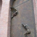 The doors of the Church of St Mary of the Angels and the Martyrs are impressive