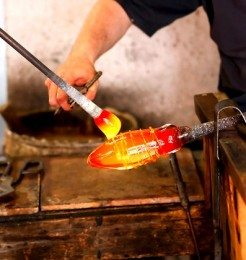 Blowing Glass in Murano Island