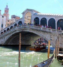 The Rialto Bridge Venice Italy